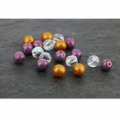 Glasperlen Dobble Beads 2 Löcher 8 mm Chalkwhite Travertin x20