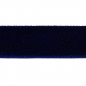 Band aus Samt 16 mm Dark Navy Blue x1m