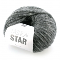 Wolle Fashion Star Anthracite/silberfarben x50g