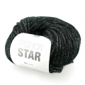 Wolle Fashion Star Noir/silberfarben x50g