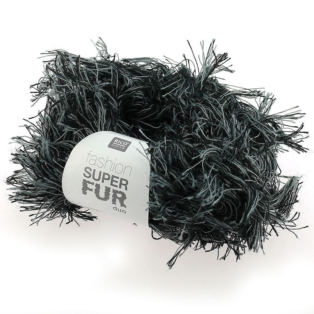 wolle fashion super fur duo grau schwarzx50g rico design. Black Bedroom Furniture Sets. Home Design Ideas