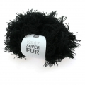 Wolle Fashion Super Fur schwarz x50g