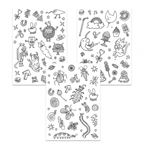 Stickers à colorier Colouring activity motifs Monstre et Insecte  x132