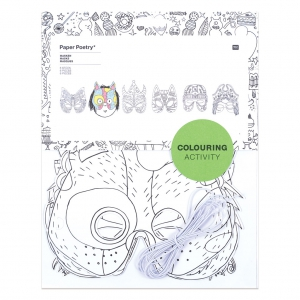 Sortiment mit 6 Masken Colouring activity
