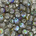 Rundperlen 4mm Crystal Graphite Rainbow x50