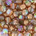 Rundperlen 4mm Crystal Copper Rainbow x50
