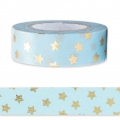 Klebeband - Paper Poetry Tape 15mm Tern Blau goldfarben x10m