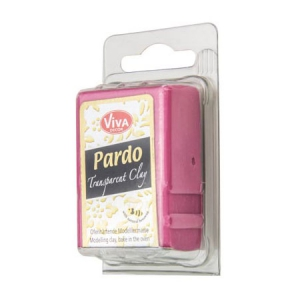 Pardo Viva Decor Modelliermasse Translucent Clay 56g n°422 Red
