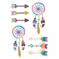 Set von 8 3D Stickers 85 mm Indian Dreamcatcher