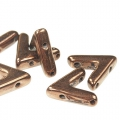 Glasperle V Form 3 Löcher AVA® Bead 10x4 mm Dark Bronze x10