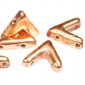 Glasperle V Form 3 Löcher AVA® Bead 10x4mm C Capri Gold Full x10
