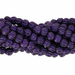 Glasperlen Melon Bead 3mm Purple Metallic Mat x20