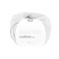 Essentials Cotton Dk Wolle Weiß x50g
