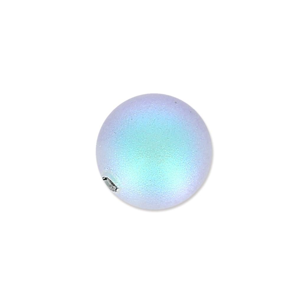 Swarovski Halb gebohrte Perle 5818 8mm Iridescent Light Blue Pearl
