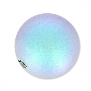 Swarovski Halb-gebohrte Perle 5818 6mm Iridescent Light Blue Pearl