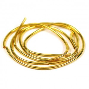 French Wire (cannetille oder bouillon) 1 mm Gold Plattiert x 45 cm