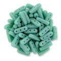 Glasperlen Czechmates Beam Beads 3 Löcher 3x10mm Green Turquoise x5g