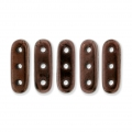 Glasperlen Czechmates Beam Beads 3 Löcher 3x10mm Dark Bronze x5g