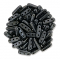 Glasperlen Czechmates Beam Beads 3 Löcher 3x10mm Jet Hematite x5g
