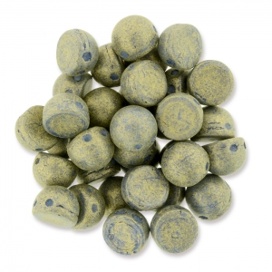 Perles en verre Czechmates Cabochons 2 trous 6mm Poppy Seed Pacifica x5g