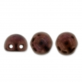 Glasperlen Czechmates Cabochons 2 Löcher 6mm Dark Bronze x5g