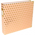 Album Project Life de Becky Higgins 30.5x30.5 cm Goldenen Punkte auf Blush Rose