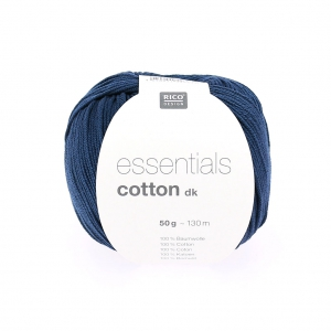 Essentials Cotton Dk Wolle Bleu Nuit x50g