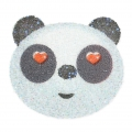 Crystal Fabric Swarovski 610874 Hotfix  Applikation 45 mm Panda Kopf