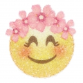 Crystal Fabric Swarovski 611580 Hotfix Applikation 40 mm Smiley Krone