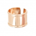 Ring eco aus Messing mit Rand 15 mm Roségold x1