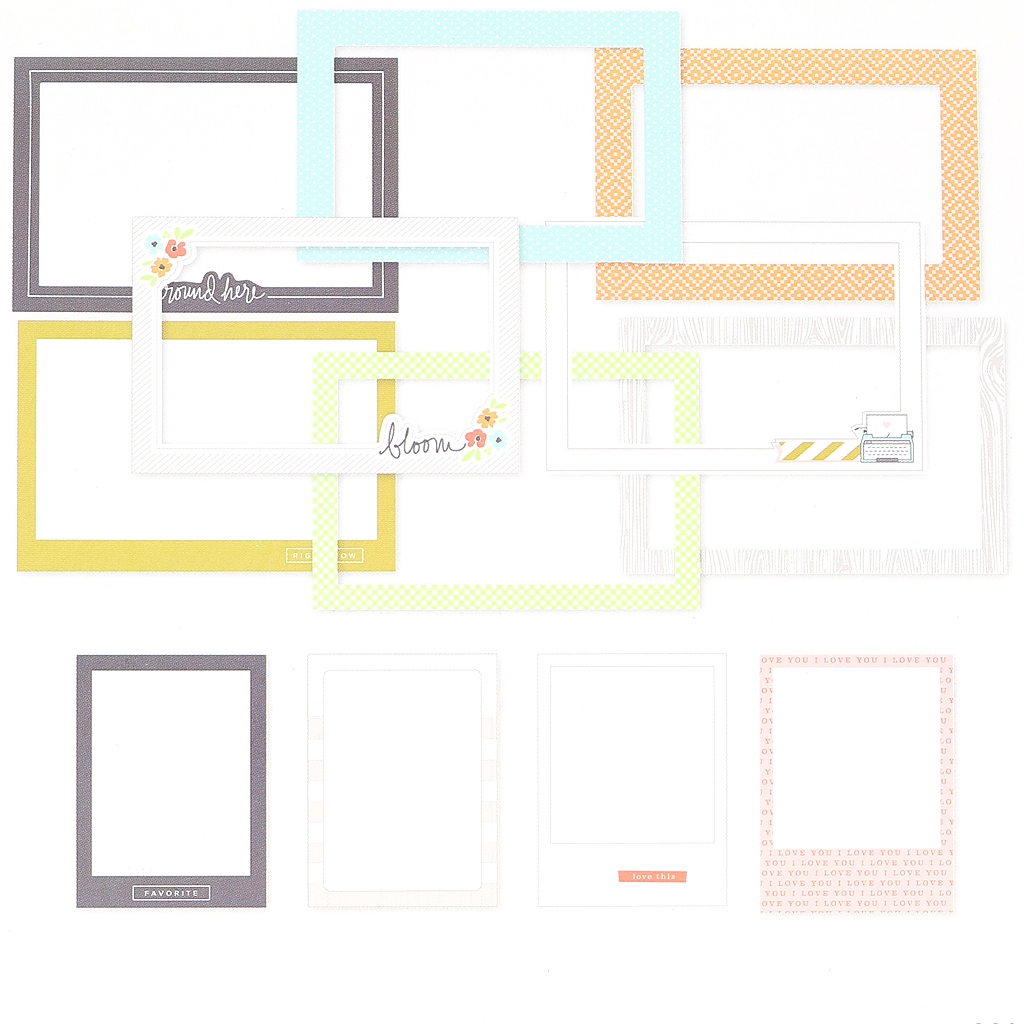 Set mit 12 Rahmen 15x10-7.5x10cm für das Album Project Life DIY Ma ...