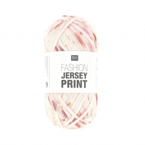 Wolle Fashion Jersey  Print Rico Design Rot Spray 001 x 50g