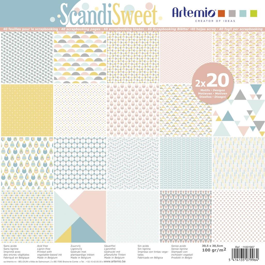 Papier Block scrapbooking 30.5x30.5 cm ScandiSweet x40 Blätter - A ...
