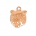 Tiger head charm 17 mm Rosé gold x1