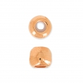 Metalperle stopper bead 5 mm mit 2 mm Loch Rosé gold x1