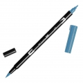 Feutre Tombow Dual Brush - Doppelspitziger Filzstift  Process Blue ABT-452