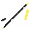 Feutre Tombow Dual Brush - Feutre pinceau double pointe Process Yellow ABT-055
