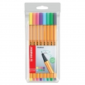 Etui de 8 stylos feutres Point 88 STABILO pointe fine 0.4 mm Pastel Collection