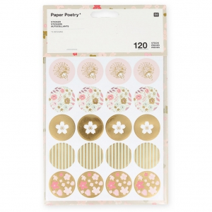 Stickers Paper Poetry 15 Muster Bouquet Sauvage x120
