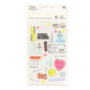 Sortiment mit  200 Büro Stickers Paper Poetry Magical Summer Motivation x1
