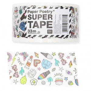 Klebeband - Paper Poetry Super Tape 50 mm Magical Summer weiß x33m