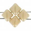 Silky Bead Dia 5x5mm Beige Ceramic Look x50