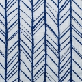 Stoff doppelte Baumwolle Gaze  - Embrace collection - Herringbone Royal x10