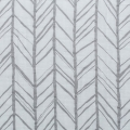 Stoff doppelte Baumwolle Gaze  - Embrace collection - Herringbone Steel x10
