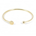 Armband aus Messing mit Platte 8 mm zu verzieren 160 mm light gold HQ x1