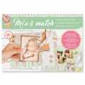 Design Papier Mix and Match für Scrapbooking - Baby x1