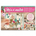 Design Papier Mix and Match für Scrapbooking - Follow Your Heart x1