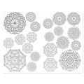 Waterslide Transfer magique Color me : Lotus Mandalas