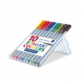 10 Filzstifte Triplus Fineliner von 0.3 mm - STAEDTLER - Brillant Colours