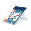 10 Filzstifte Triplus Fineliner von 1  mm - STAEDTLER - Brillant Colours